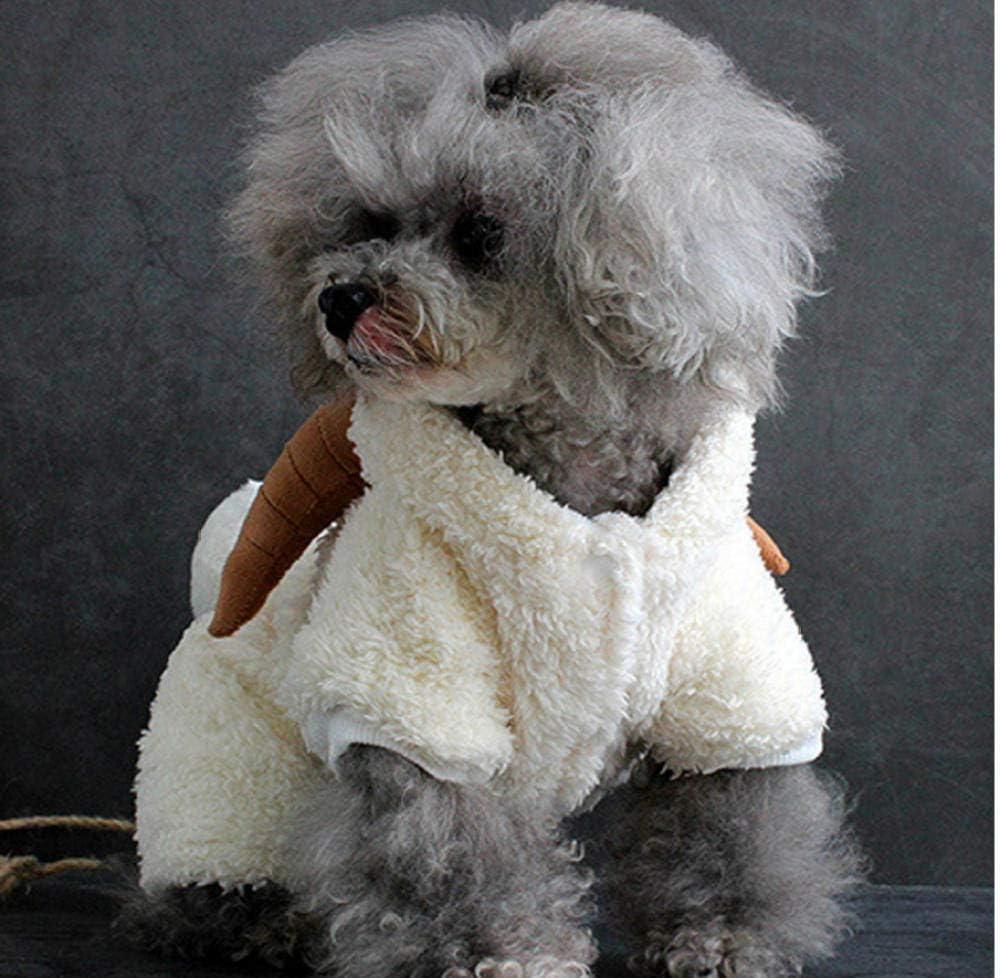 MUXIAND Lustiger Netter Ziegen-H/ündchen-Hoodie-Mantel kleidet Herbst-Winter-warmen Hundekatzen-Mantel-Jacken Vier Beine mit Hut-Haustier-Kapuzenpullis