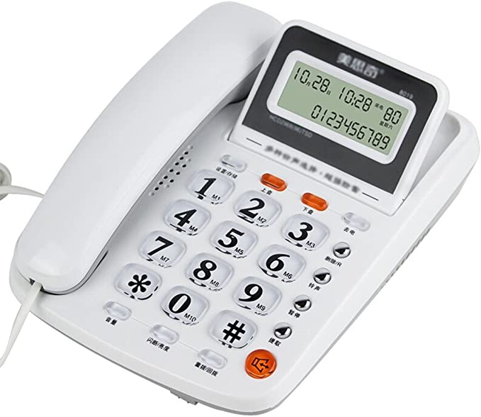 DQMSB Phone Fixed Flip Phone Home Office Wired Phone 214 207 70mm Color : Red
