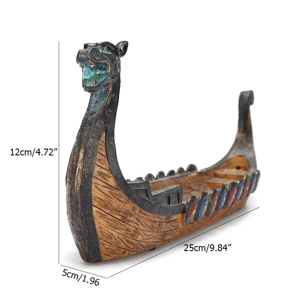 Incense Stick Holders Burner Dragon Pattern Carved Censer Ornaments Table Decors