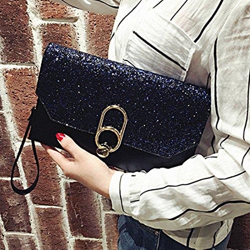 Noir bag main à IBELLAEnvelope Sacs Femme qFw44UX