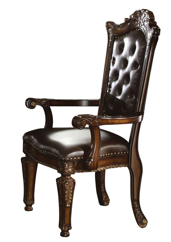 ACME 60004 Vendome Arm Chair, Cherry Finish, Set of 2