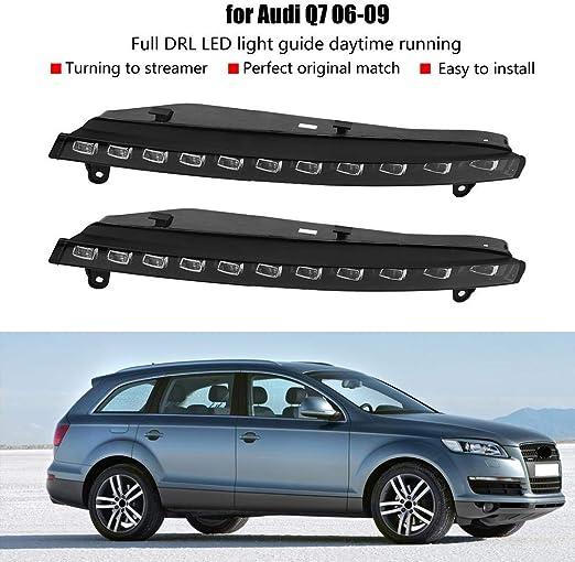 Feux de jour de voiture 1 paire de clignotants 2 couleurs DRL LED antibrouillard pour Q7 06-09
