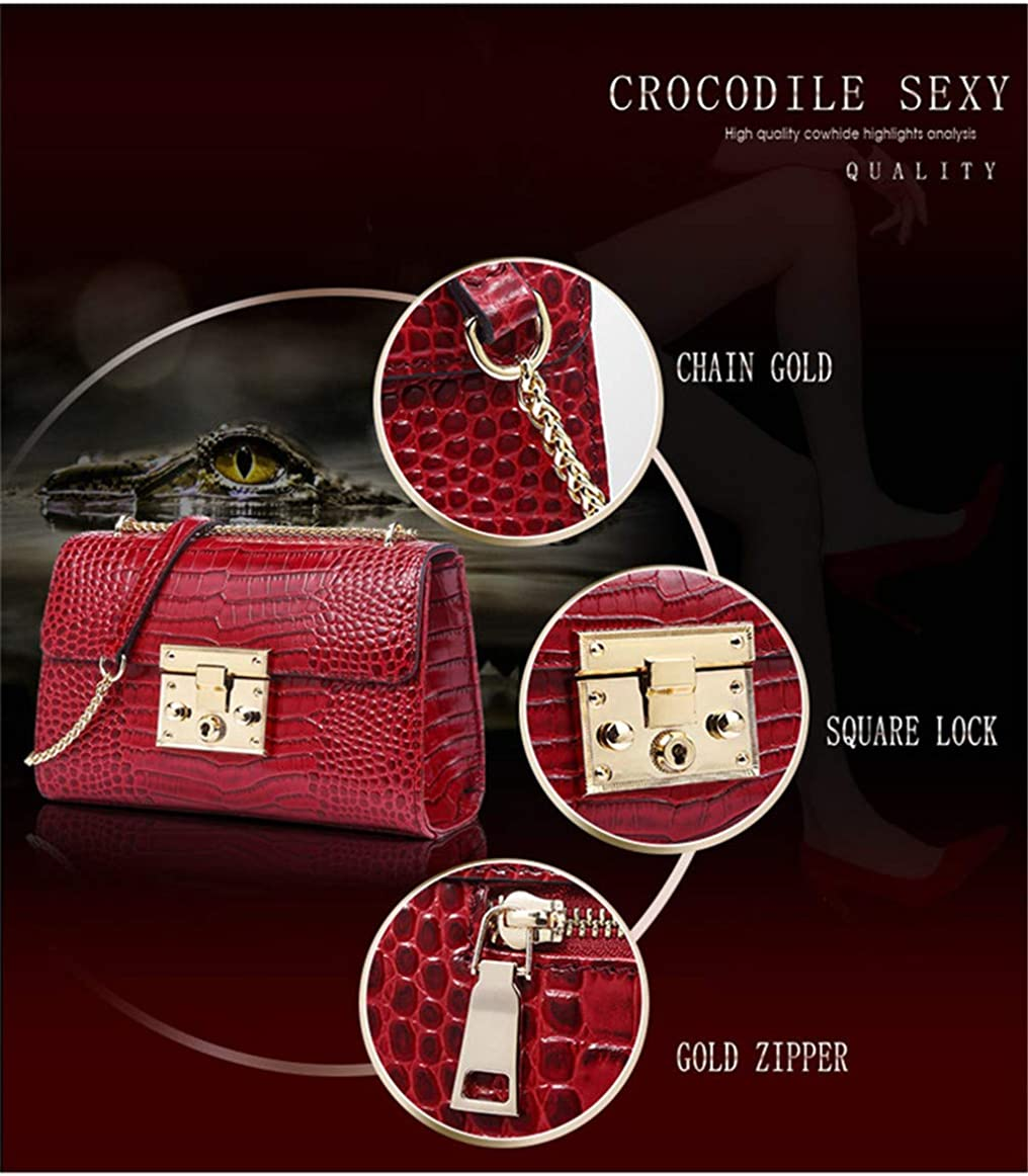 Genuine Leather Luxury Handbags Chain Shoulder Bags For Women