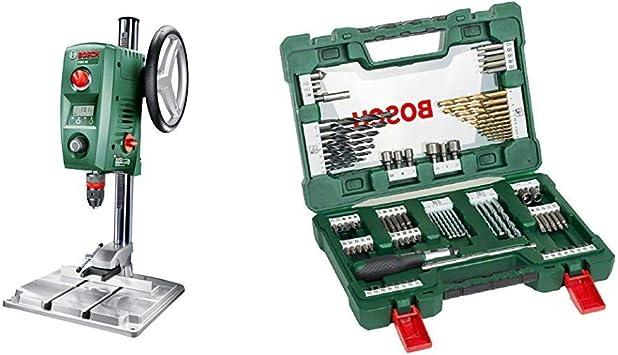 Bosch PBD 40 - Taladro de columna (710 W, caja de cartón) + Bosch V-Line Titanio - Maletín de 91 unidades para taladrar y atornillar: Amazon.es: Bricolaje y herramientas