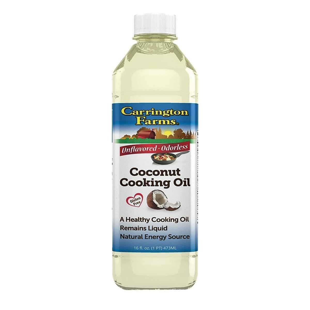 Carrington Farms Coconut Cooking Oil, 16 Fluid Ounce - 6 per case. by Carrington Farms
