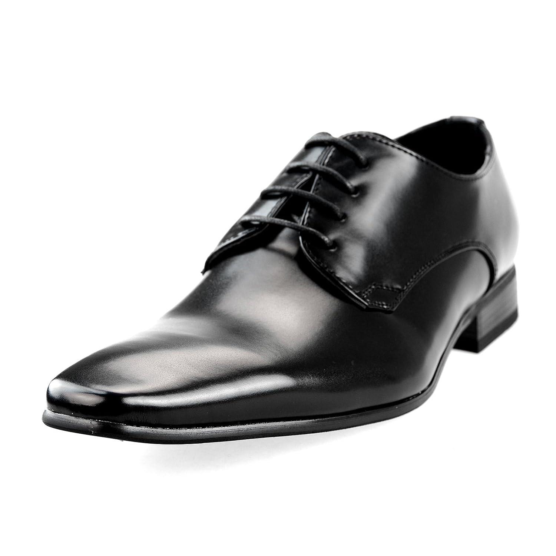 MM/ONE Oxford Mens Plain toe Lace up Shoes Big Size KingSize Low Cut Dress Shoes Black Brown Dark Brown