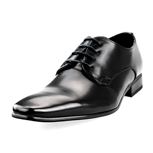 Men's Oxford Plain toe Lace-up Low-cut Low Black Brown
