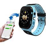 Kids Smart Watch TKSTAR SOS Alarm 2 Way Call Text Parents Control Watches for Girls Boys with Timer Alarm Clock Flashlight Smart Watches Camera