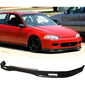 Front Bumper Lip Fits 1992-1995 Honda Civic | Spoon Style Black PU Front Lip