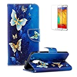 Funyye Magnetic Flip Cover for Samsung Galaxy A8 2018,Premium Stylish Luxury Butterfly Pattern Stand Wallet PU Leather Case with Soft Silicone for Samsung Galaxy A8 2018 + 1 x Free Screen Protector