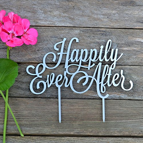 Cake topper Happily Ever After Wedding cake toppers for wedding Cake Decorations HappyPlywood (width 6