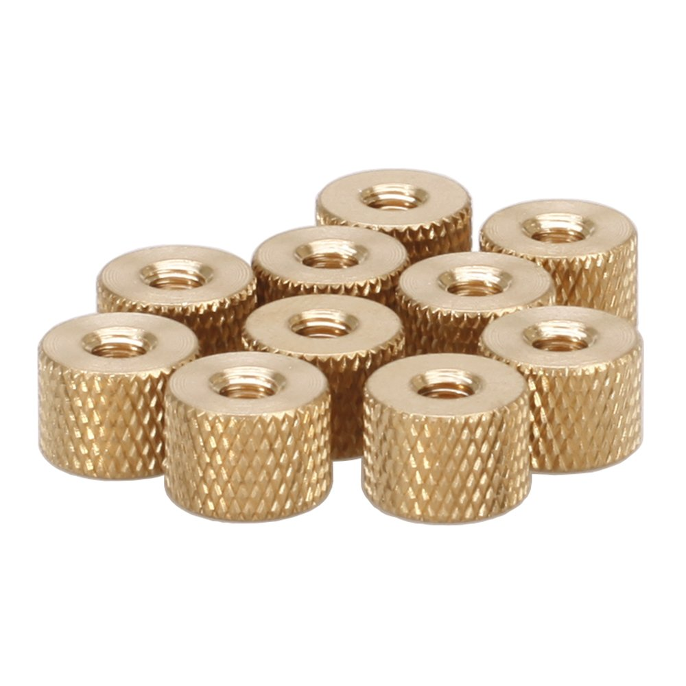 M2 Brass Thumb Nut, Brass Knurled Nut, Pack 100 pcs HZSTONE