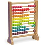Wooden Abacus Classic Counting Tool, Counting Frame Educational Toy with 100 Colorful Beads by Imagination Generation