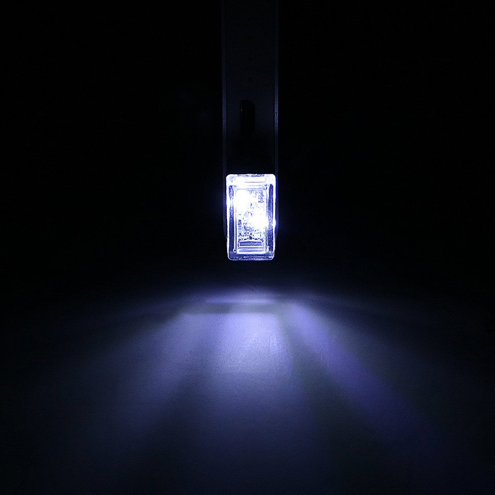 Bombillas USB para coche con luces de ambiente para interior de coche color blanco