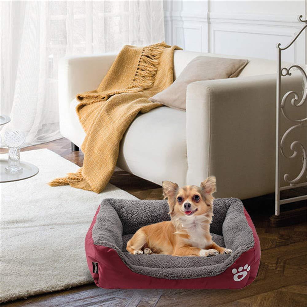 Lifemaison Cuccia Letto per Animali Domestici Canile Estraibile e Lavabile Letto per Cane Gatto 1 PCS 110cmx85cmx19cm, Blu