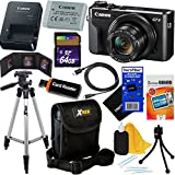Canon PowerShot G7 X Mark II Digital Camera w/1 Inch Sensor and tilt LCD screen, Wi-Fi & NFC Enabled (Black) International Version + 12pc 64GB Deluxe Accessory Kit w/HeroFiber Gentle Cleaning Cloth