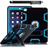 iPad Mini Case, iPad Mini 2 Case, TabPow [Triple Layer][Shockproof][Kickstand][Heavy Duty] Hybrid Rugged Drop Proof Defender Case Cover with Stand For iPad Mini and iPad Mini 2 with Retina, Blue