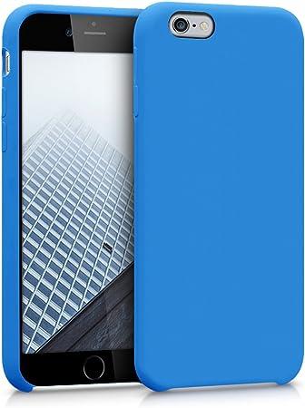 Kwmobile Hülle Kompatibel Mit Apple Iphone 6 6s Handyhülle Gummiert Handy Case In Jeansblau Elektronik