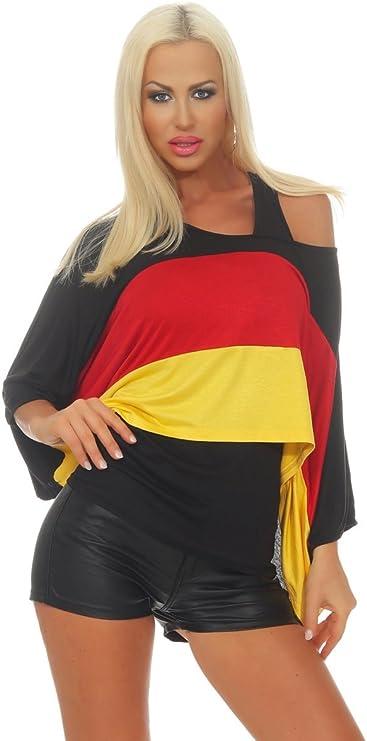 OSAB-Fashion 11555 Damen Fan-Shirt + Top Kurzarm Fußball