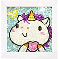 772bf58b4 5D Diamond Painting Full Drill Kits for Kids, Cross Stitch Kits for Children  with Frame