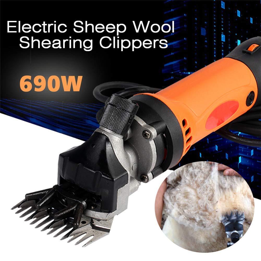 Shengshiyujia Tosatrici elettriche Professionali per per per capre, 690 W e 6 velocità Regolabili, per la rasatura della Lana a18527