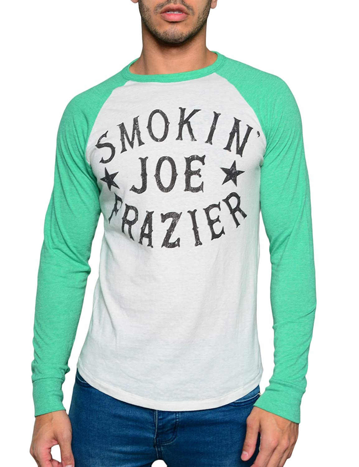 Roots of Fight Officially Licensed Mens Joe Frazier Smokin Joe Raglan Size Small