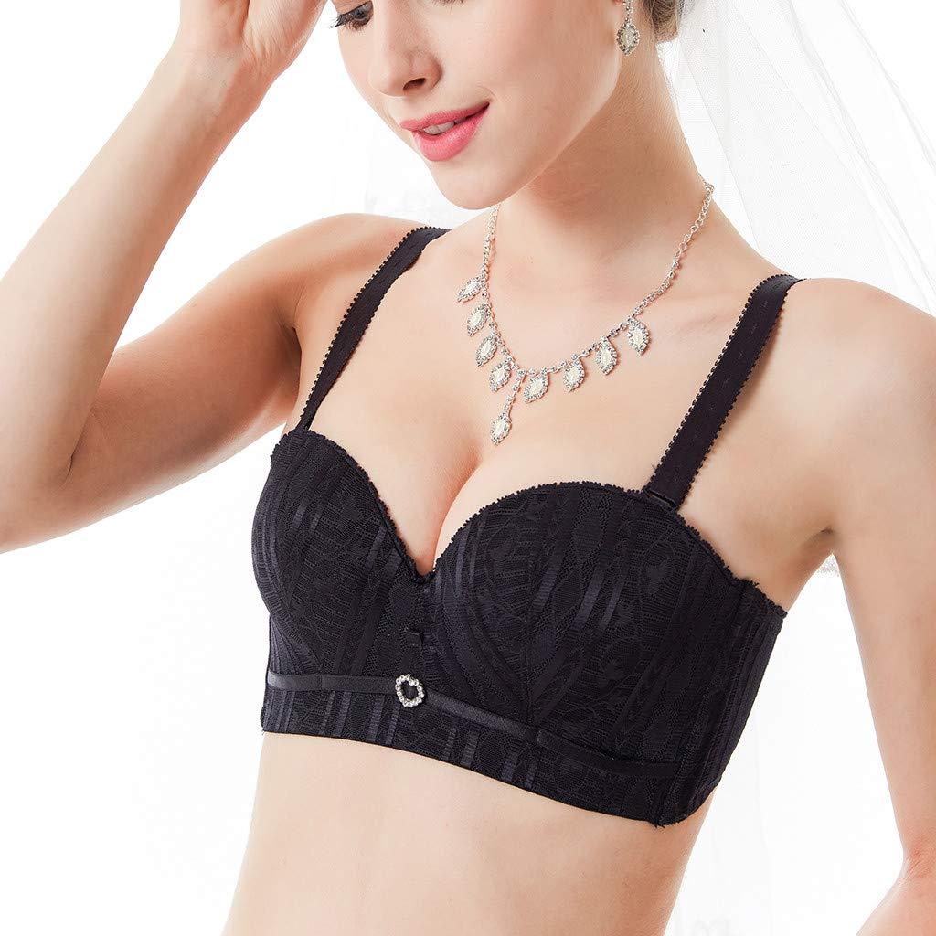 Woman Half-Cup Nubra Steelless Ring Closed Adjusted Underwear Wedding Dress Bra