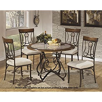 Signature Design By Ashley D314 15B Hopstand Collection Dining Room Table Base Only Brown