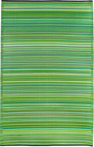Fab Habitat Cancun Indoor/Outdoor Rug,  Green, (4' x 6')