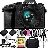 Panasonic LUMIX G7 DMC-G7K DMCG7K Mirrorless Micro Four Thirds Digital Camera with G VARIO 14-140mm f/3.5-5.6 Lens (Black) (White Box) 16PC Bundle - International Version (No Warranty)