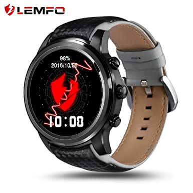 Reloj inteligente LEMFO Android 5.1, procesador MTK6580 Quad Core, 1 GB/8 GB