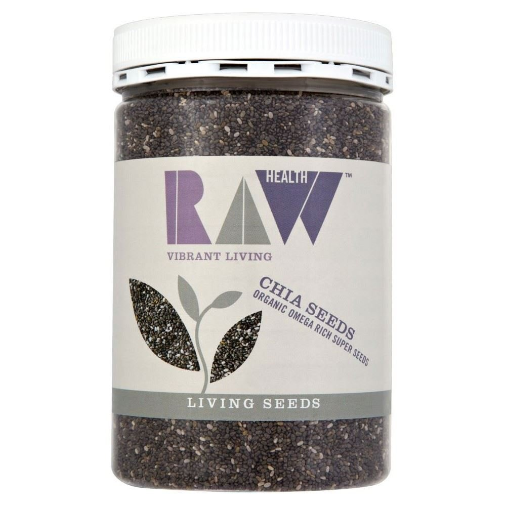 Raw Health Organic Chia Seeds (450g) - Pack of 6