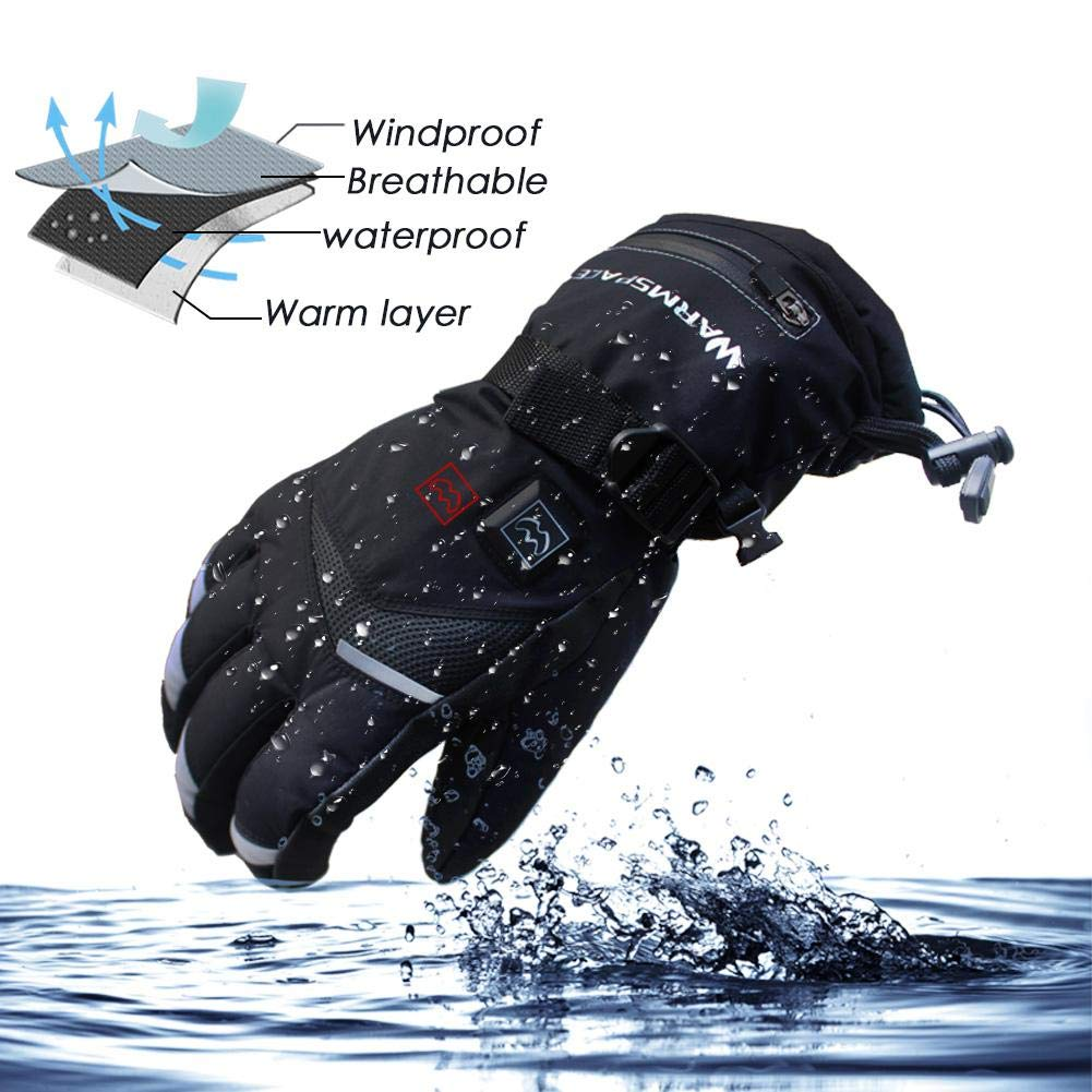 zaote Wiederaufladbare Anpassung Handw/ärmer Aufladen Fingerheizung Sicherheit Konstante Temperatur Warme Typical elektrisch beheizte USB-Handschuhe rutschfeste 5-Gang-Touchscreen-Handschuhe