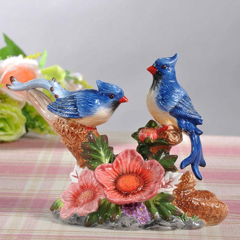 wksee Figuritas Decorativas Escultura Decorativa Estatuas De Pájaros De Cerámica Decoración del Hogar Artesanías Figuras De La Mascota De La Suerte Bar De La Oficina Accesorios De Adornos De Café