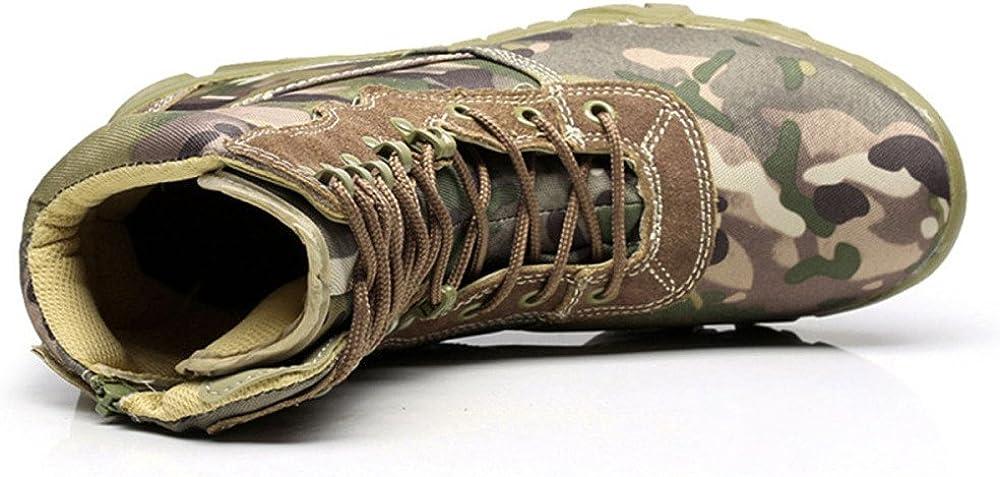 QIKAI Taktische Stiefel Wasserdicht Camouflage Milit/ärstiefel Kommando Hohe Stiefel W/üste Stiefel Herbst Und Winter Wanderschuhe