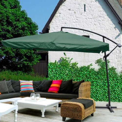 Cheap Deluxe 9ft 8 Rib Sun Shading Pool Side Patio Offset Market Umbrella Outdoor Furniture – Green