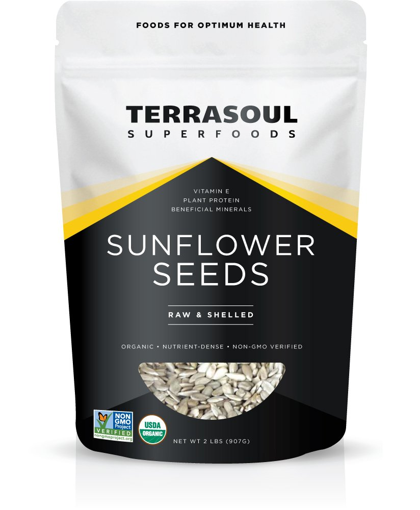 Terrasoul Superfoods Organic Hulled Sunflower Seeds, 2 Pounds by Terrasoul Superfoods