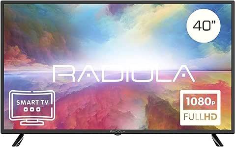 Televisor Led 40 Pulgadas Full HD Smart TV. Radiola LD40100KA, Resolución 1920 x 1080P, HDMI, VGA, WiFi, TDT2, USB Multimedia, Color Negro: Amazon.es: Electrónica