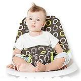 Seggiolino per Bambini Portatile Adattabile in Tessuto Pieghevole e Lavabile (Cerchi Marrone)