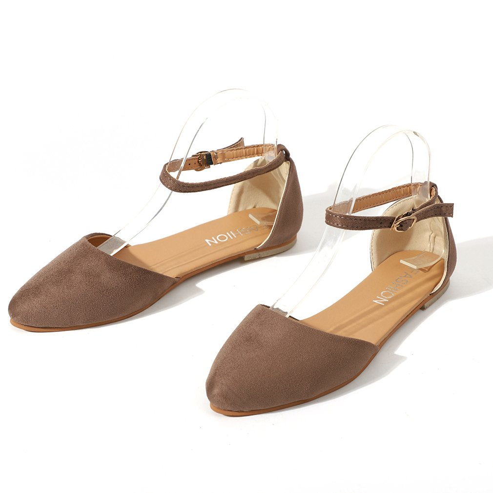 Juleya Damen Sandalen Vorne Geschlossene Sandalen Flach Wohnungen