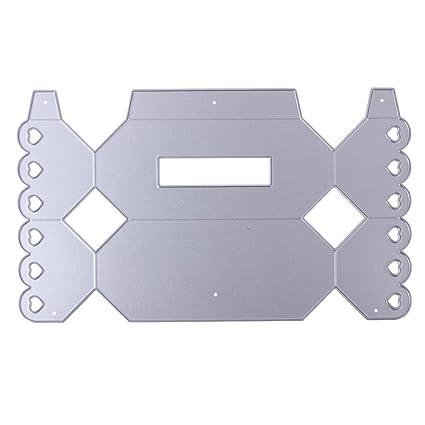 Troquel de metal con diseño de cajas de caramelos troqueles de corte para DIY Scrapbooking álbum
