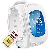 hangang Tracker GPS per bambini Smartwatch bambini anti-erra SOS Calling puntatore di bambini a prova di acqua XJ12in tempo reale, Orologio Smart Kids compatibile con telefoni Smartwatch