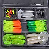 N.choice Fishing Lures Bait Tackle Soft Small Jig Head Box Set Simulation