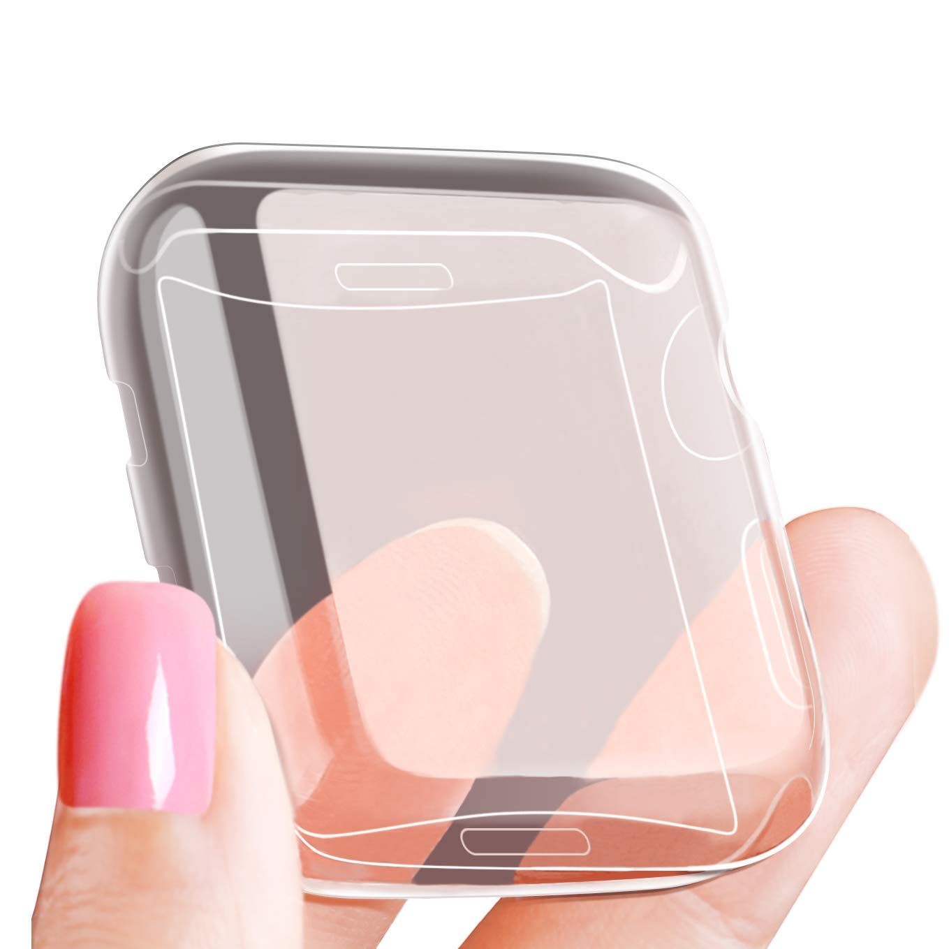 LELONG Compatible with Apple Watch Case 38mm 42mm 40mm 44mm, Soft TPU All-Around Clear Screen Protector Cover for iWatch Series 4,Series 3, Series 2 by LELONG (Image #8)