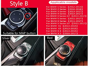 Center Console Multimedia 5 Button Frame Cover Trim For 3 5 Series X1 X3 X6