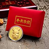 Coherny Red Enveloped Chinese New Year Golden Mouse Commemorative Coin in 2020