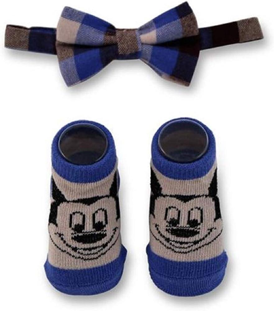 Disney - Juego de pajarita y calcetines para bebé (0-12 meses ...