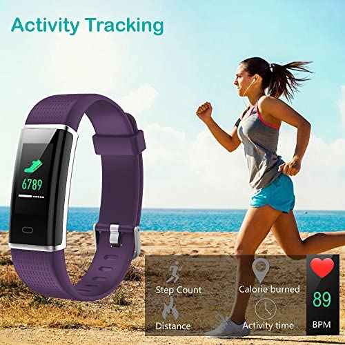 Willful Fitness Tracker IP68 Swimming Waterproof, Heart Rate Monitor Fitness Watch Sport Digital Watch with Color Screen Step Counter Sleep Tracker Call SMS SNS Notice, Smart Watch for Men Women Kids 5
