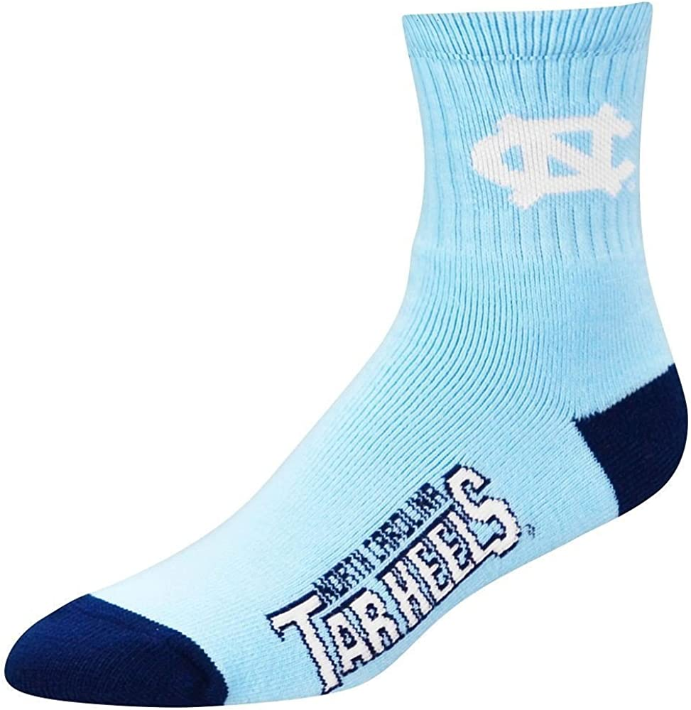 TEAM COLOR NCAA NORTH CAROLINA TARHEELS QUARTER SOCKS