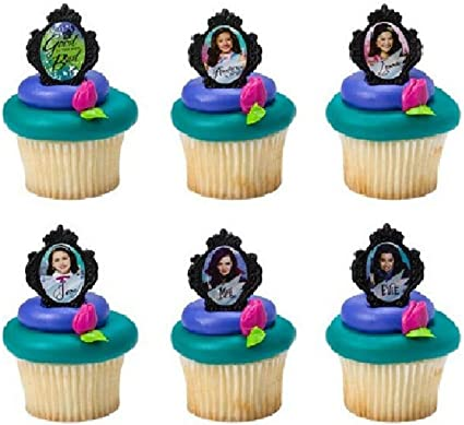 Amazon.com: Disney Descendants Good Bad 24 Pastel Cupcake ...